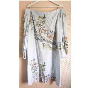 3ff8f591392 Kaari Blue Off The Shoulder Floral Pastel Dress